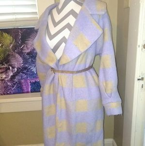 Gorgeous Vintage Wool Blend Lilac & Gold Coat